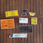 R80G/S Warning stickers complete kit