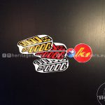 K1 1000cc seat side pair of stickers, standard colours